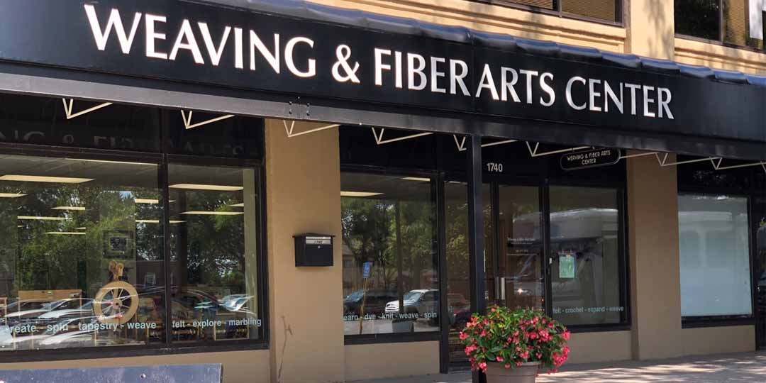 Our The Weaving and Fiber Arts Center is located in the Piano Works mall