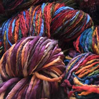 Handspun and hand dyed yarns